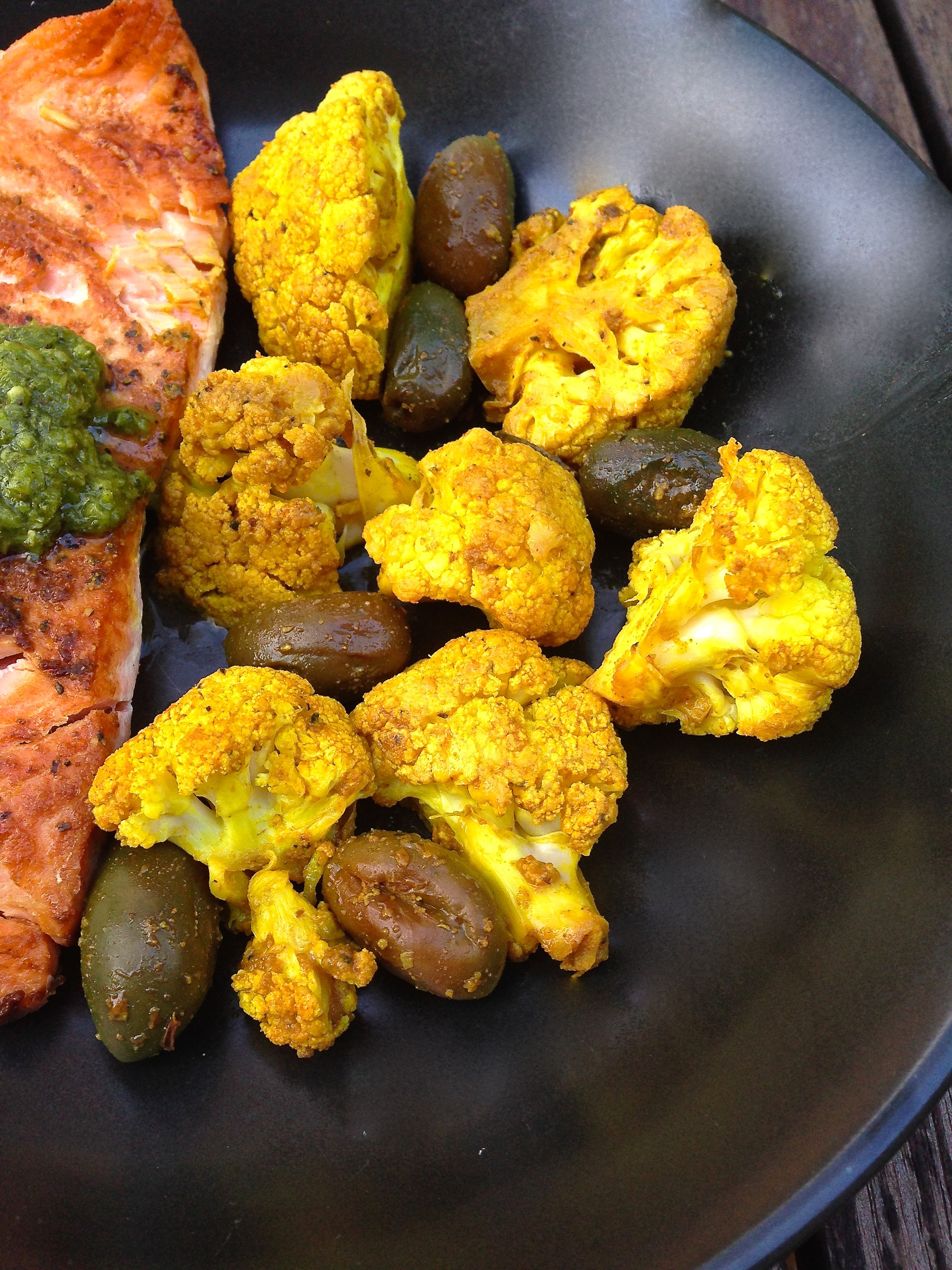 Turmeric & Cumin Roasted Cauliflower & Olives ~ Real Food ...
