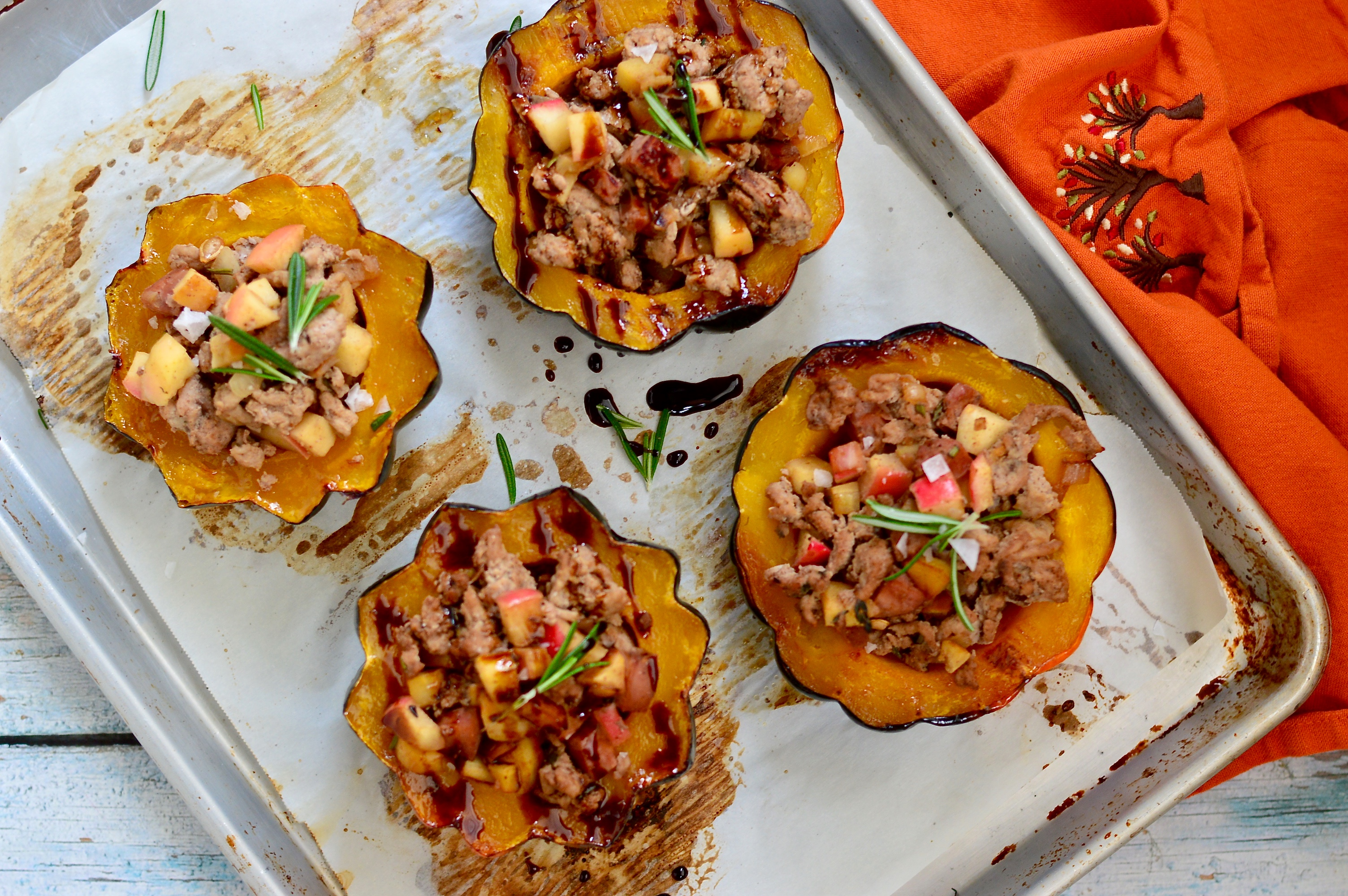 Spiced Apple Stuffed Acorn Squash ~ Real Food with Dana